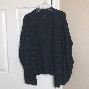 Gap open front shawl collar cardigan